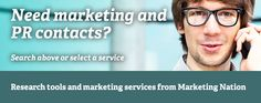 Marketing Nation useful for identifying PR (and marketing) agencies. You can search by region and by specialism. To view individual contacts you need to pay a subscription. Marketing Professional, Career, Search, Organizations, Research, Carrera, Searching