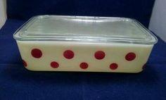 Mint Vintage McKee Red Dot Refrigerator Dish