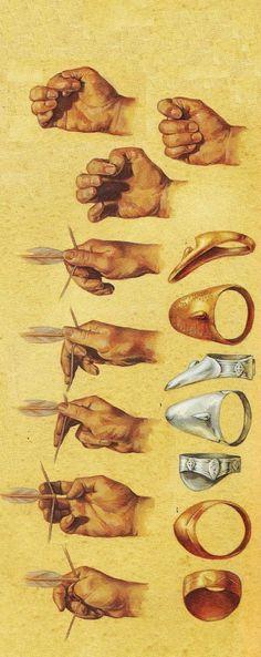 anillo pulgar para tirar con arco