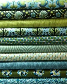 Forest Colorway Birds and Bees by Tula Pink - Fat Quarter Bundle (found at Sew Fresh Fabrics) $27.50