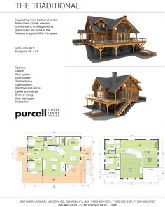 Purcell Timber Frames - Prefab Full Home Packages - The Traditional