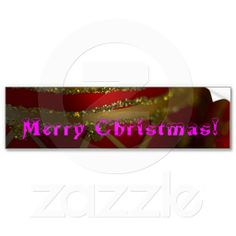 Merry Christmas Ornament 4 Bumper Stickers from Florals by Fred