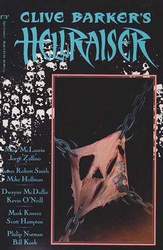 Clive Barker's / Book of Damned a Hellraiser / cover back / 1989 (Simon Bisley) Rare Comic Books, Comic Books For Sale, Sci Fi Books, Simon Bisley, Sci Fi Comics, Horror Comics, Clive Barker Books, Ed Wood, Book Tv
