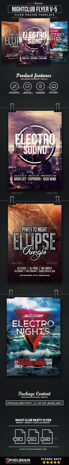Dubstep Party Flyertemplate  Fonts Texts And Techno