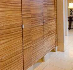 Ironwood Manufacturing beautiful wood veneer toilet partition