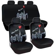 New York Skyline Seat Covers