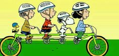 Peanuts gang: Out on a bike ride