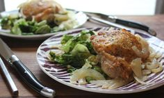 Dinner Deal: Cider Braised Chicken with Peppery Escarole. A delish dinner that won't break the bank!