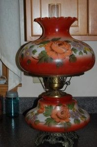 antique hand painted lamps 102 Best Victorian Style Hurricane Lamps images | Chandeliers  antique hand painted lamps