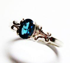 Blue topaz blue topaz ring london blue topaz by Michaelangelas, $42.99