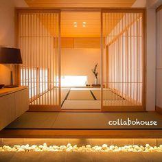 Tatami entrance and lattice house Modern Japanese Interior, Japanese Style House, Japanese Interior Design, Japanese Home Decor, Modern Japanese Architecture, Tatami Room, Japan Interior, Japanese Bedroom, Asian House