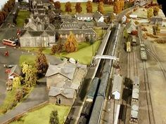An awesome complete view of the model. Isn't it looking awesome? Everything is there, buildings, rails, trains, everything.