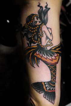 mermaid traditional tattoo | Tumblr