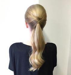 Elegant ponytail