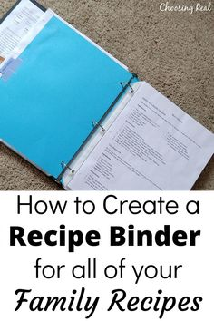 Make meal planning and meal prep easier with a family recipe binder that includes all your favorite family recipes. It's like having your own family cookbook. Book Organization, Recipe Organization, Organizing, Family Recipes, Family Meals, Party Planning, Meal Planning, New Recipes For Dinner, Foods With Iron