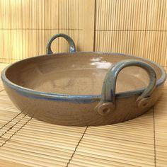 Stoneware Baking Dish by emartinpottery on Etsy Hand Built Pottery, Slab Pottery, Pottery Bowls, Ceramic Bowls, Ceramic Pottery, Ceramic Art, Stoneware, Ceramic Mugs, Porcelain Ceramic