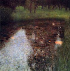 malinconie:  Gustav Klimt, The Swamp, 1900