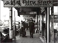 Acland Street, St Kilda, in the 1970s. The street demonstrates the mixture of ethnic groups, side by side, in this Melbourne suburb - Chinese, Dutch, Jewish.