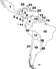 central america map worksheets | Can you name the Countries and Capitals of Central and South America ...: