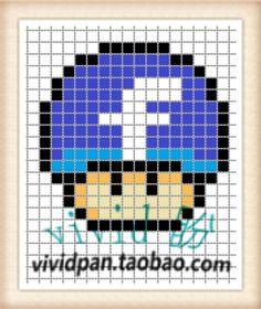 Facebook Mushroom Perler Bead Pattern