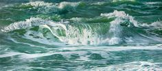 painting - Wave 3 // Brandungswelle 3 -  300 x 130 cm, Oil on Canvas - fine art for sale