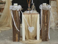 Ξυλινες βασεις για λαμπαδες γαμου Rustic Wedding, Our Wedding, Dream Wedding, Wedding Ideas, Driftwood Ideas, Wedding Decorations, Weddings, Candles, Wedding