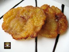 Fried plantains, tostones or Fried Banana Costa Rican Food, Mashed Potatoes, Ale, Fries, Pork, Banana, Meat, Breakfast, Ethnic Recipes