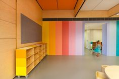 Colourful kids library