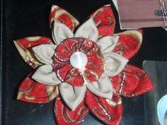 red Lotus brooch