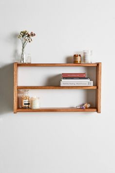 Discover the latest range of storage units & shelves at Urban Outfitters. Explore a collection of current styles ranging from dressers, wall hooks and more. Wood Wall Shelf, Diy Wall Shelves, Storage Shelves, Floating Shelves, Wall Hooks, Wall Mounted Shelf, Wall Shelf Decor, Shelving Ideas, Shelf Ideas