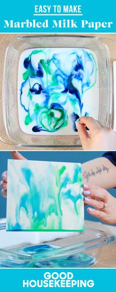 Raid Your Kitchen to Make Colorful Marbled Milk Paper - GoodHousekeeping.com