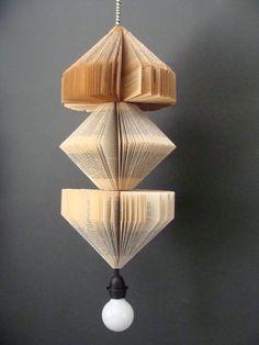 diy hanging light fixture planter | ... Vintage Book Lamp - Hanging Pendant Lighting Fixture 125$ by Darío SP