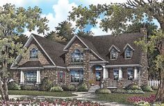 House Plan The Mainestone #1260 by Donald A. Gardner Architects - 3 beds, 2.5 baths, 2,276 s.f. - no basement but a great sized bonus area upstairs