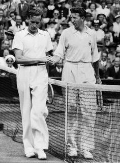 Gottfried von Cramm (German) & Don Budge (USA) - 1937 Wimbledon Men's Singles Final