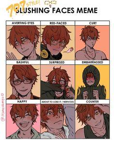defaultr-b - 0 results for mystic messenger memes Fanarts Anime, Anime Manga, Anime Guys, Anime Characters, Mystic Messenger Zen, Mystic Messenger Fanart, Vocaloid, Blushing Face, Messenger Games