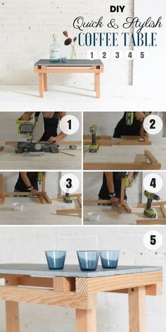 Check out how to build this quick and easy DIY Tile Coffee Table @istandarddesign
