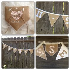 Vintage baseball wedding accessory package. Package example; 1 ea Vintage natural burlap baseball ring pillow, 1 ea natural burlap Save the Date bunting with baseball fabric numbers mounted on white cotton double fold bias tape and 1ea  natural burlap Thank You bunting with baseball fabric lettering mounted on white cotton double fold bias tape . Cost of Package $75.00 plus S at www.etsy.com/shop/GramsCozyCorner