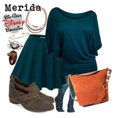 Merida Plus Size Disney Bounding by bgdisneybound on Polyvore featuring Doublju, Cobb Hill, MANGO, Diane Kordas, John & Pearl and Delfina Delettrez