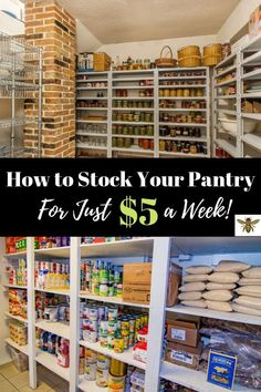 """How to Stock a Pantry for the First Time Having a well-stocked pantry can be done on a budget! Check out how to get it done with """"How to Stock a Pantry for the First Time""""! Emergency Preparedness Food Storage, Emergency Preparation, Emergency Supplies, Survival Food, Survival Prepping, Survival Skills, Prepper Food, Survival Hacks, Survival Shelter"""