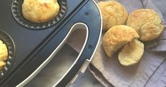 These easy pie maker bread rolls are made without yeast and can be thrown together at a moment's notice. They're perfect for camping or when you're short on time. Mini Pie Recipes, Muffin Recipes, Cooking Recipes, Bread Recipes, Savoury Recipes, Quick Recipes, Delicious Recipes, Vegan Recipes, Cheesecake Swirl Brownies