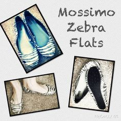 Black and Silver Zebra Flats Great condition and so comfy!! Only worn a few times. Mossimo Supply Co. Shoes Flats & Loafers