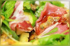 Salade hawaïenne au jambon