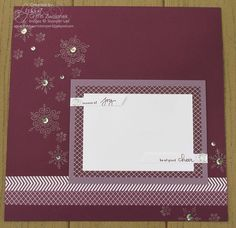Scrapbook page. Love the color and embellishments.