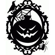 Silhouette Design Store - View Design #50111: a2 jack o lantern pumpkin frame