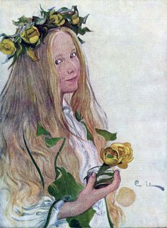 Carl Larsson, Jugend magazine cover art, 1918.                                                                                                                                                                                 More