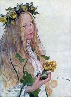 Carl Larsson, Jugend magazine cover art, 1918.