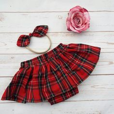 Tartan set ready to post but also available to order sizes newborn to 3 years
