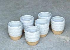 Ceramic Cup - Handmade Pottery Mug - Ceramic Tumblers - Handmade Mug - Milk Cup - Juice Cup Ceramic Tableware, Ceramic Cups, Crassula Ovata, Jade Plants, Clay Mugs, Pottery Wheel, Pottery Mugs, Pottery Ideas, Rustic White