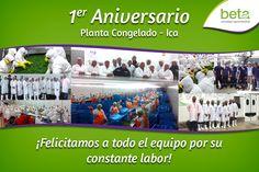 1er Aniversario Planta Congelado - Ica. ¡Beta, creciendo juntos!
