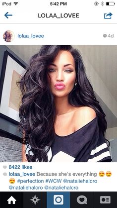 Top 15 Long Black Hairstyles (don't miss this)! Those curls tho! Love big bouncy curls with thick hair! Cant wait till my hair grows out long enough to do this! – wish my hair would do this but it would b years of growth! Love Hair, Gorgeous Hair, Amazing Hair, Beautiful Gorgeous, Beautiful Women, Big Bouncy Curls, Curly Hair Styles, Natural Hair Styles, Corte Y Color